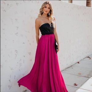 Vici Faux leather maxi dress